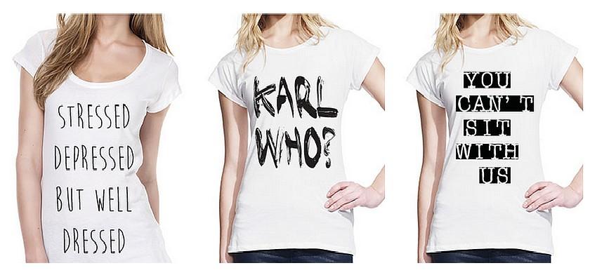 Modne majice z napisi